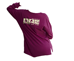 LADIES OVERSIZED LONG SLEEVE TEE by TownWear